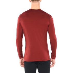 Icebreaker 200 Oasis Snap Head T-shirt manches longues à Col ras-du-cou Homme, cabernet